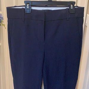J Crew Navy Career Crop Pants